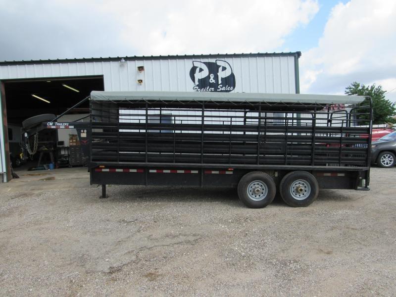 2010 CM 20 x 6.8 Brush Buster 20' Livestock Trailer in Ashburn, VA