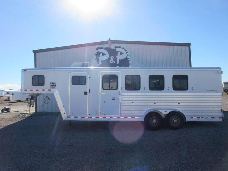 2002 Kiefer Built 4 Horse 4 Horse Trailer 6 LQ Slant