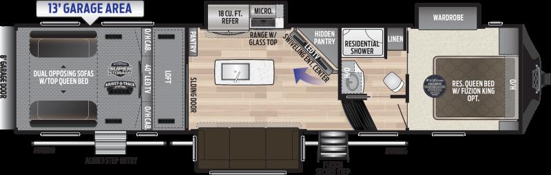 2019 Keystone Fuzion 357 TOY HAULER 39' Toy Hauler LQ in Tortilla Flat, AZ