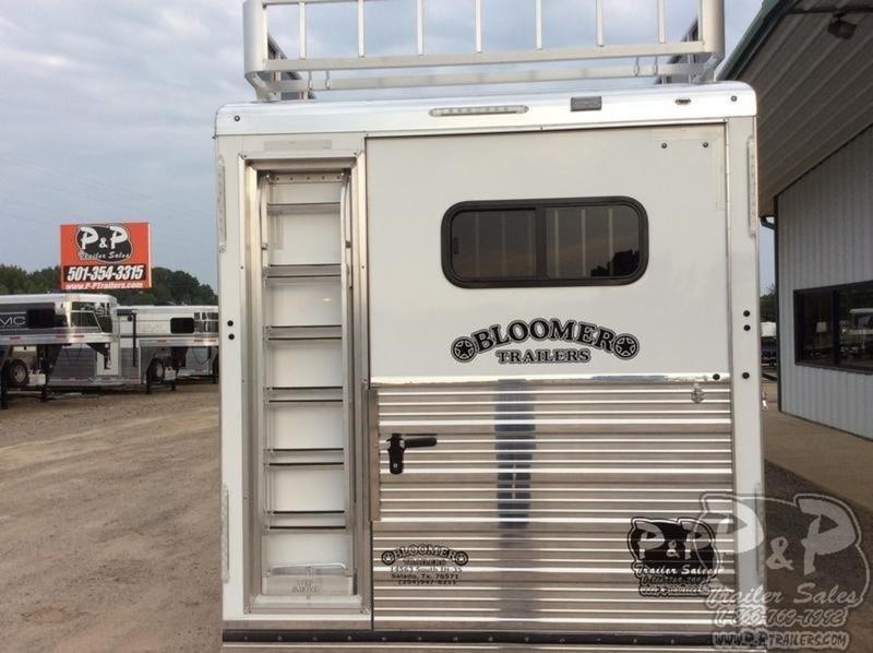 2020 Bloomer 4H Super Tack 4 Horse Trailer Slant