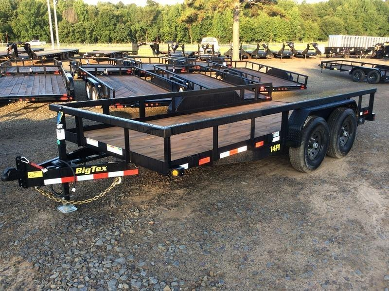 2020 Big Tex Trailers 14PI-16 16' Equipment Trailer in Briggsville, AR