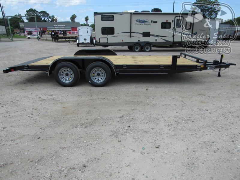 2019 P and P 83 X 18 Wood Floor Car Hauler 18 ft Utility Trailer