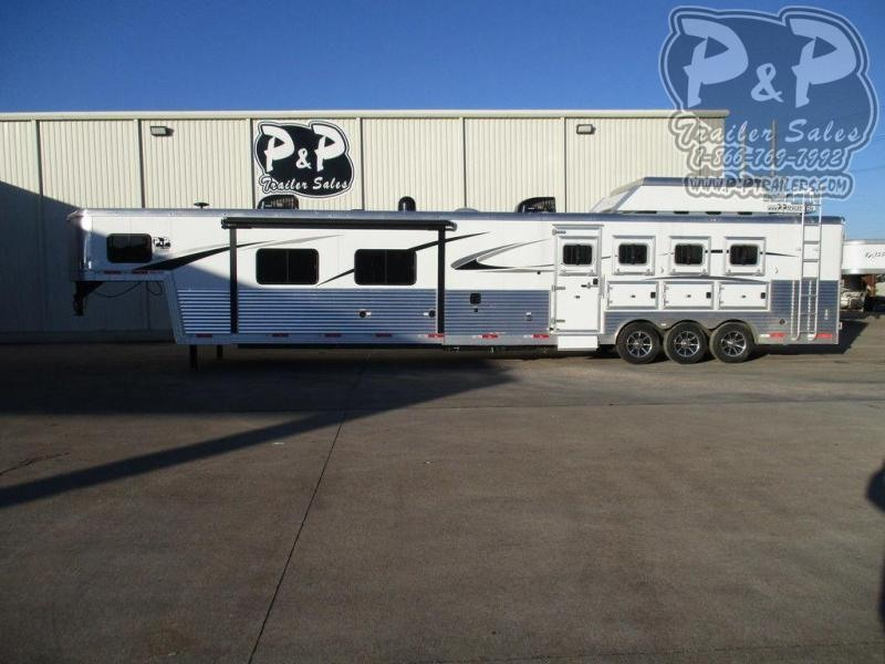 2019 Bison Trailers 8420PRDS 4 Horse 4 Horse Slant Load Trailer 0 FT LQ With Slides w/ Ramps