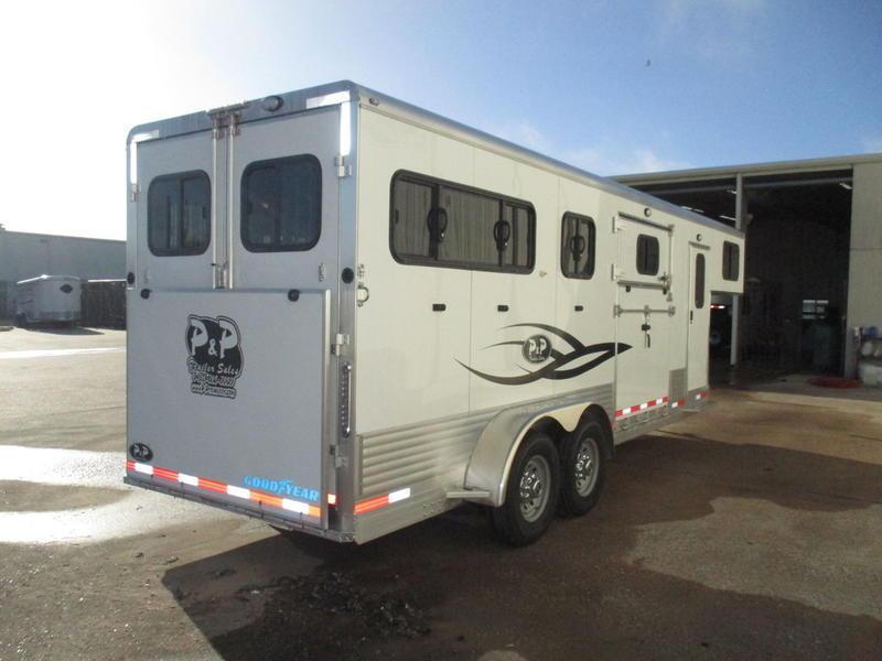 2019 P & P Straight Load Gooseneck 2+1 Horse