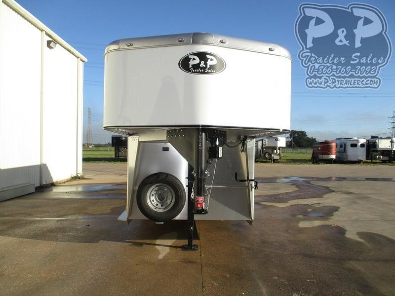2019 P and P Straight Load Gooseneck 2+1 Horse 2 Horse Straight Load Trailer