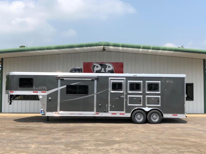 2019 Lakota AC8311 3 Horse Trailer 11' LQ With Slides Slant