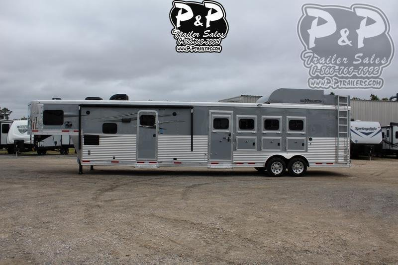 2019 Lakota Trailers Charger C8415BBRSL 4 Horse 15' Short wall