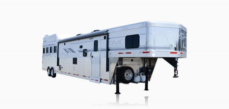 2019 SMC Horse Trailers SL8X18SCEB LARAMIE 3 Horse 18' LQ Horse Trailer Slant