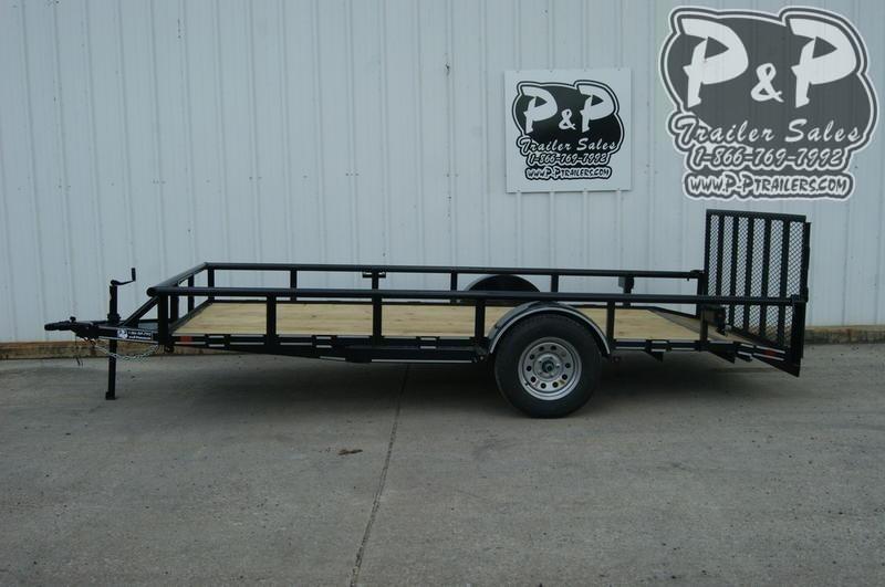 2019 P and P PPSA14X77LDRGPTDT 14 ft Utility Trailer