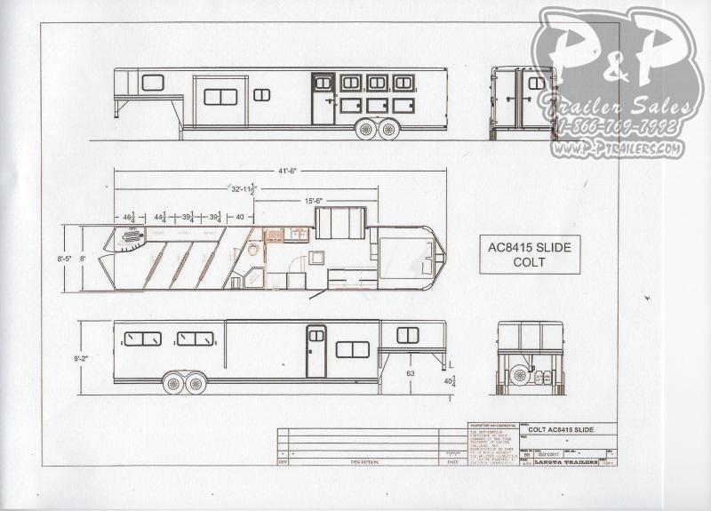 2020 Lakota Colt AC8415 4 Horse Slant Load Trailer LQ