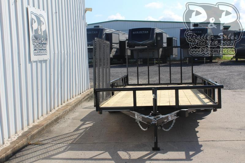 2019 P and P PPTA16X83GDRGPTSG 16 ft Utility Trailer