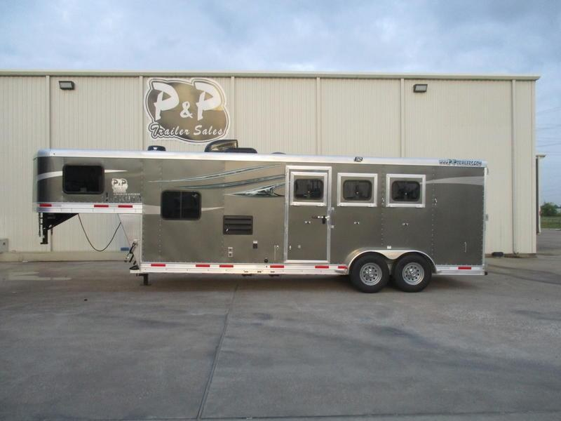 2019 Lakota Trailers Charger C39 3 Horse 9' Short Wall