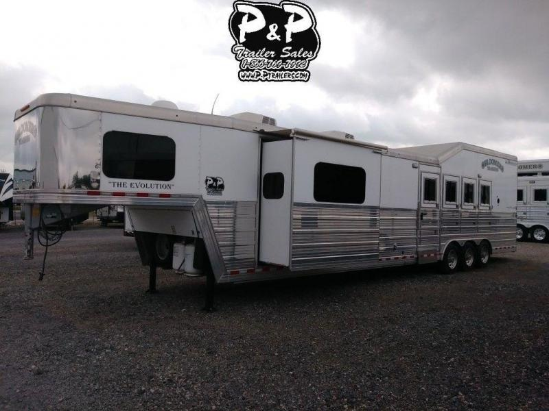 2016 Bloomer 4 Horse 17 FT w/ Trail Boss Conversion 4 Horse Trailer 17 LQ With Slides Slant