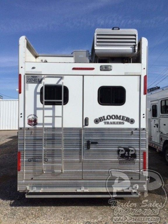 2016 Bloomer 8417 w/ Trail Boss Conversion 4 Horse Trailer 17 LQ With Slides Slant