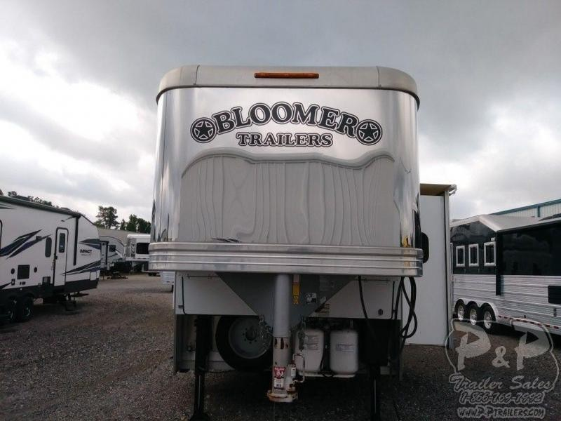 2016 Bloomer 8417 w/ Trail Boss Conversion 4 Horse Trailer 17 LQ With Slides Slant