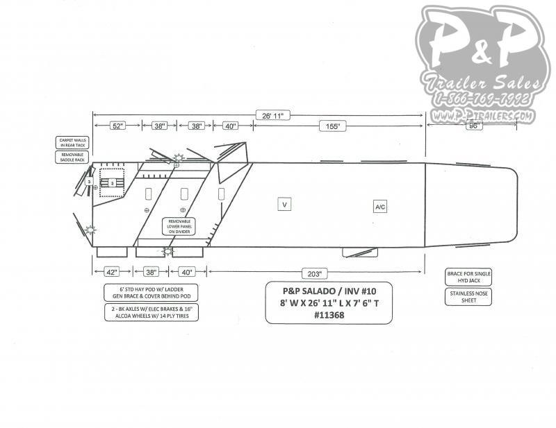 2020 Bloomer Trailers 3 Horse 13' Short Wall Outlaw Conversion