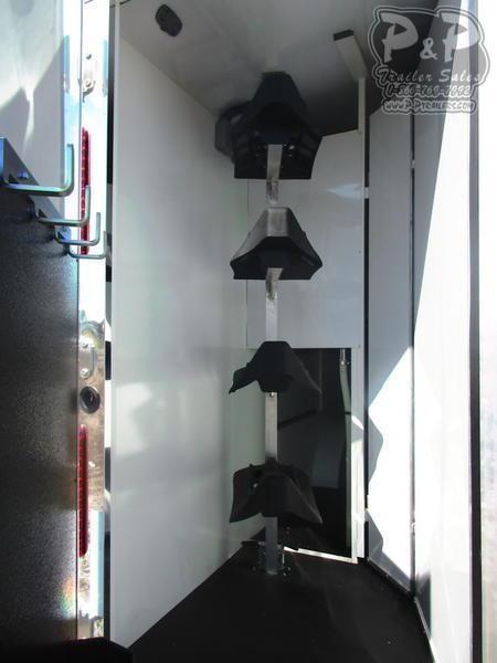 2019 Bison Trailers 8414RG Ranger 4 Horse 14' Shortwall 4 Horse Slant Load Trailer LQ With Slides