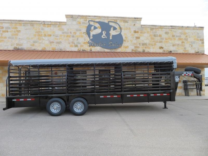 2019 CM CM Trailers CMS9440-24 Brush Buster 24x68x66 Livestock Trailer