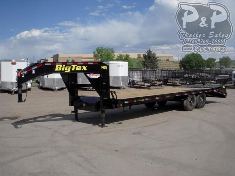 2020 Big Tex Trailers 14GN-25BK5MR 30' Flatbed Trailer