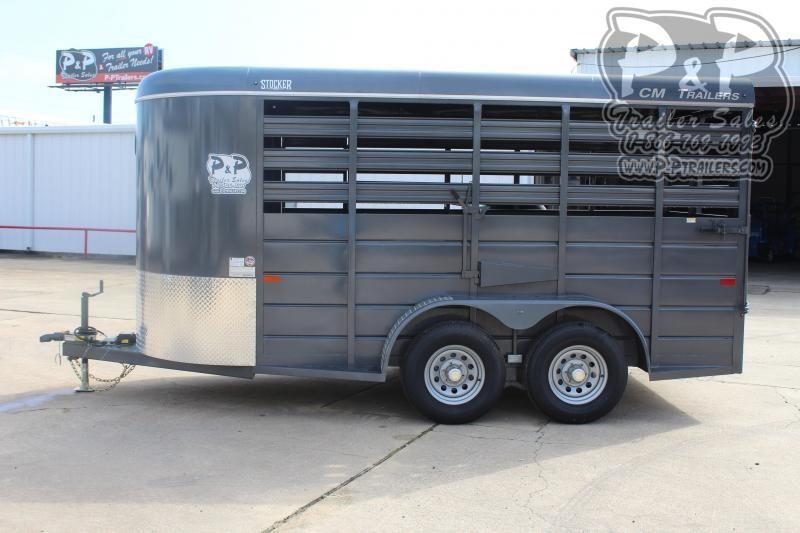 2019 CM Stocker 14 ft. 6' W x 6' 6 14 ft Livestock Trailer