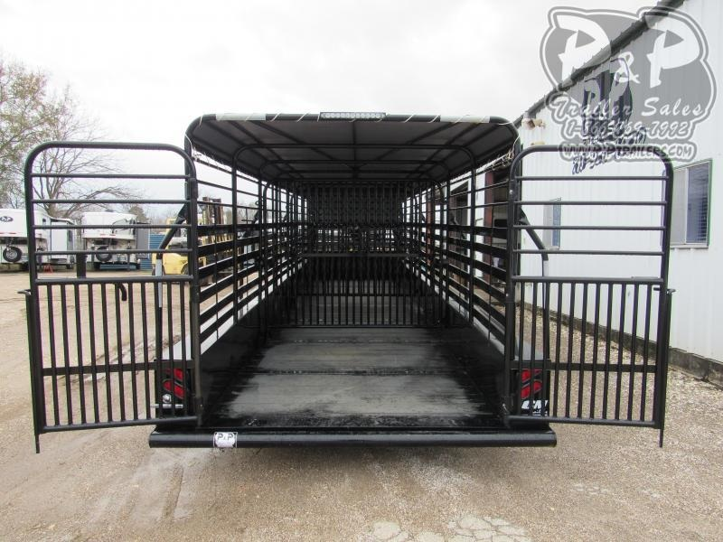 "2019 CM Brush Buster 28 x 6'8"" 28 ft Livestock Trailer"