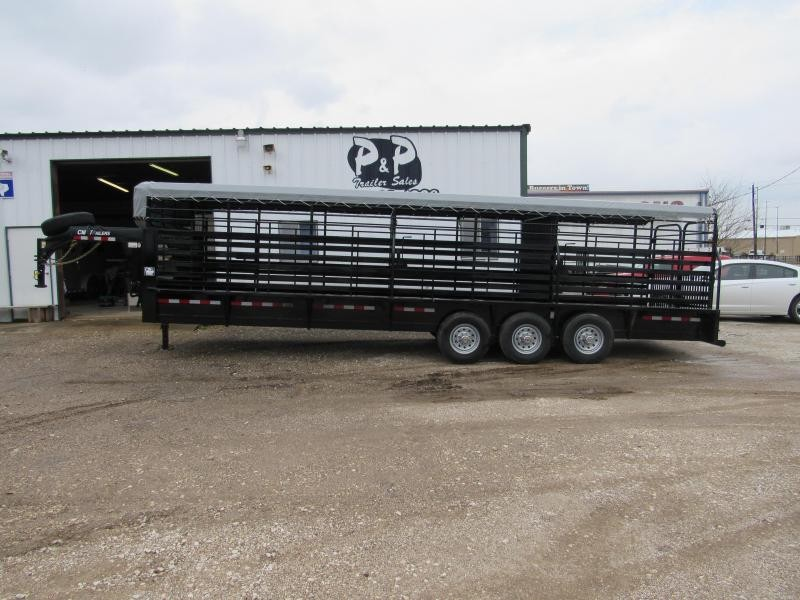 2019 CM Brush Buster 28x6.8x6.6  Livestock Trailer