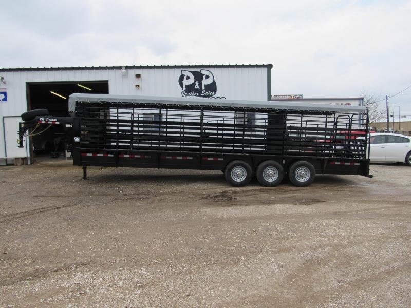 2019 CM Brush Buster 28x6 Livestock Trailer