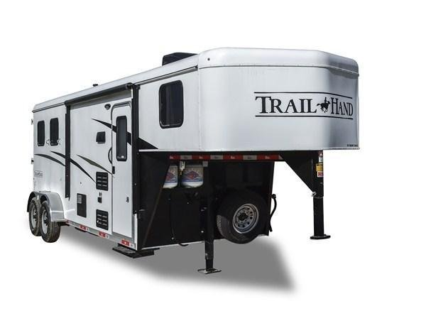 2019 Bison Trailers Trail Hand 7309TH-SO Slide-Out 3 Horse 9 LQ Horse Trailer Slant