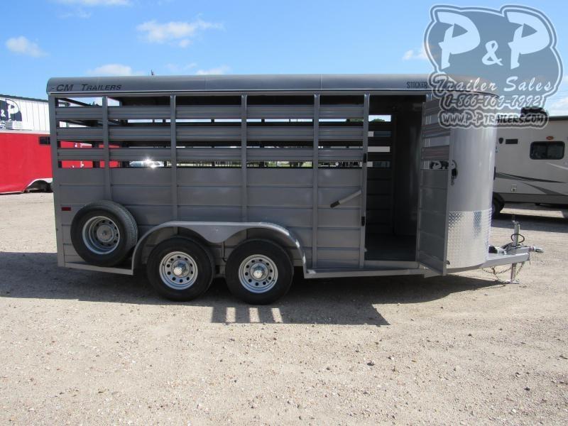 """2020 CM 16' x 6' 6.6"""" 16 ft Livestock Trailer"""
