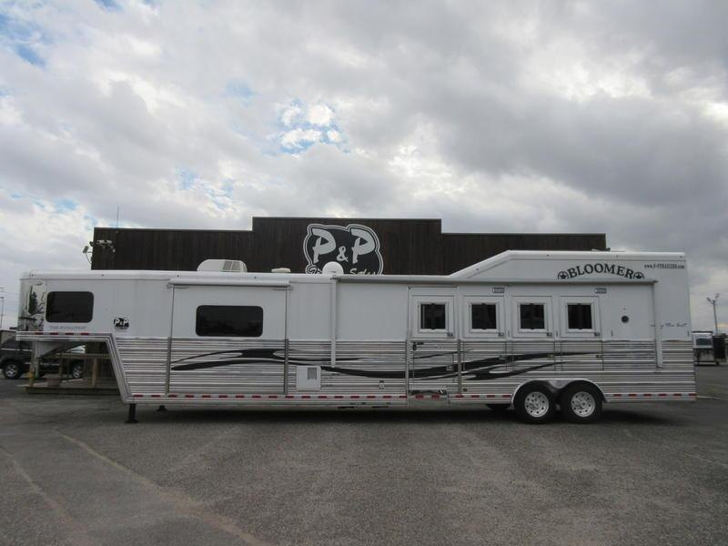 2012 Bloomer Trailers 4 Horse 16' Trail Boss Conversions With Slide-Out