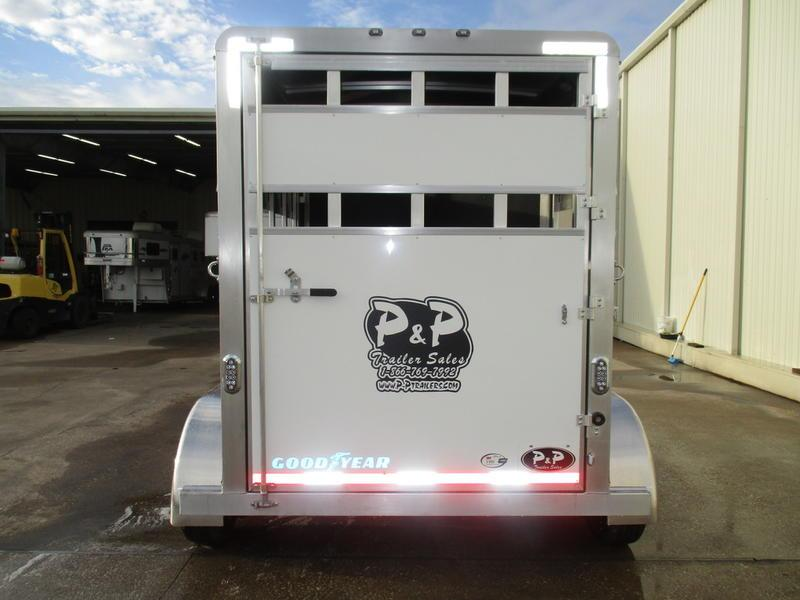 2019 P & P 1 Horse Slant Load Bumper Pull