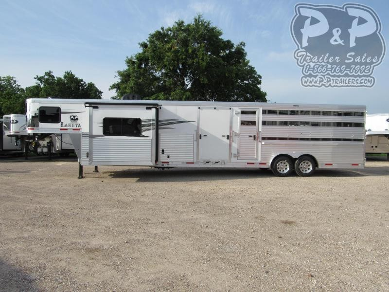 2020 Lakota LE81611 11 Living Quarters 16' Stock 32' Livestock Trailer LQ