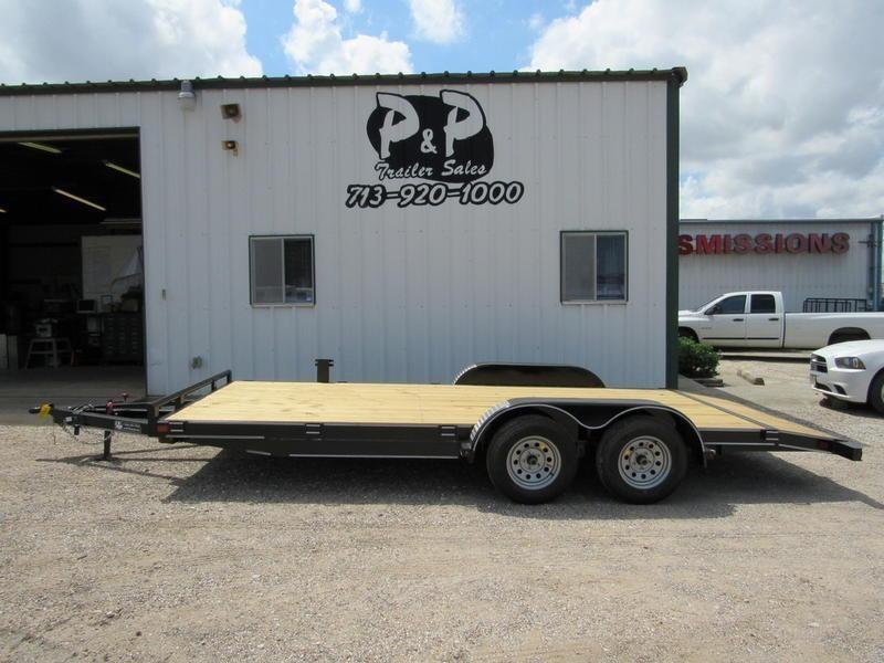 2018 P and P 83 X 18 Wood Floor Car Hauler 18' Flatbed Trailer in Ashburn, VA