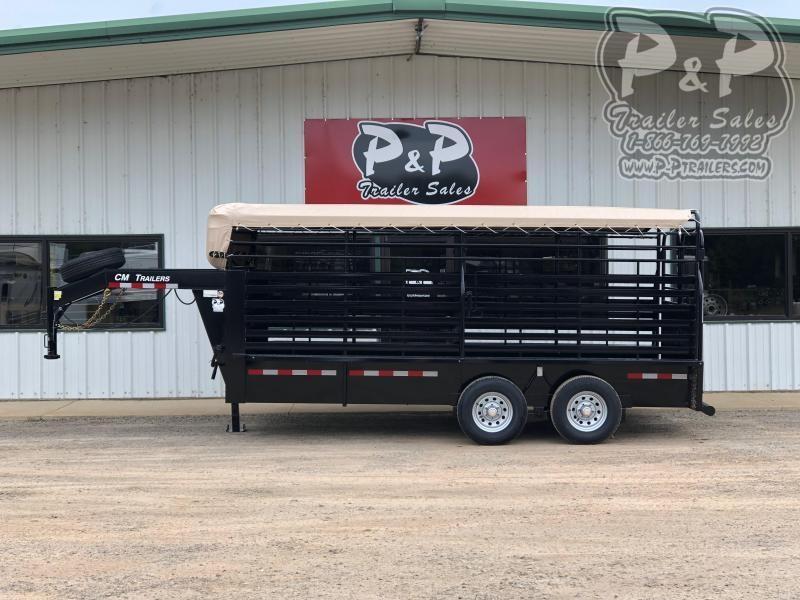 2020 CM CMS-9440-16 16 ft Livestock Trailer