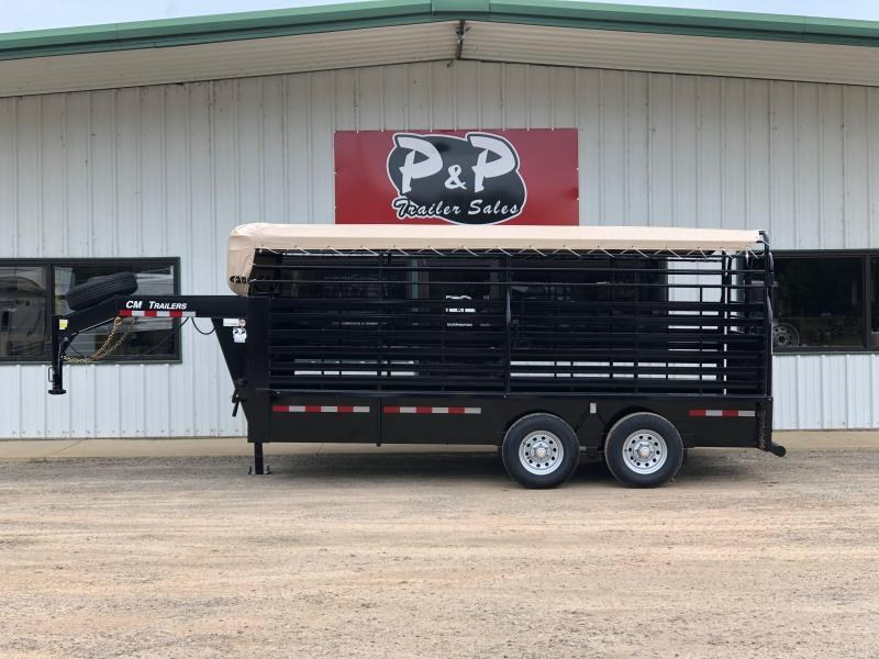 2020 CM CMS9440-1600260 Brush Buster 16x68x66 16' Livestock Trailer in Ashburn, VA