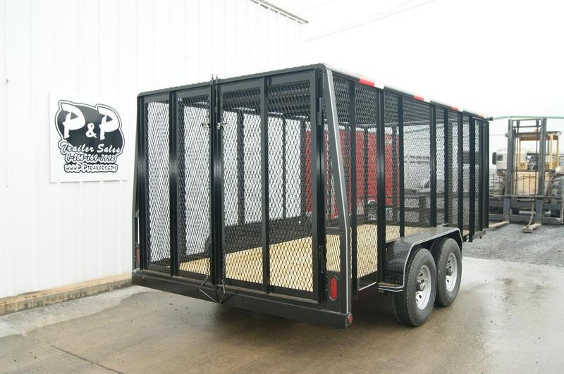 2019 P and P 83X16 Cage Trailer 16' Utility Trailer
