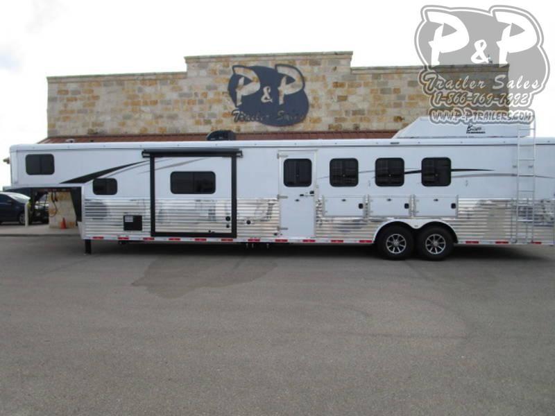 2020 Bison Trailers 8414 RGLRSL Ranger Side Load 4 Horse 4 Horse Slant Load Trailer 14 FT LQ With Slides w/ Ramps