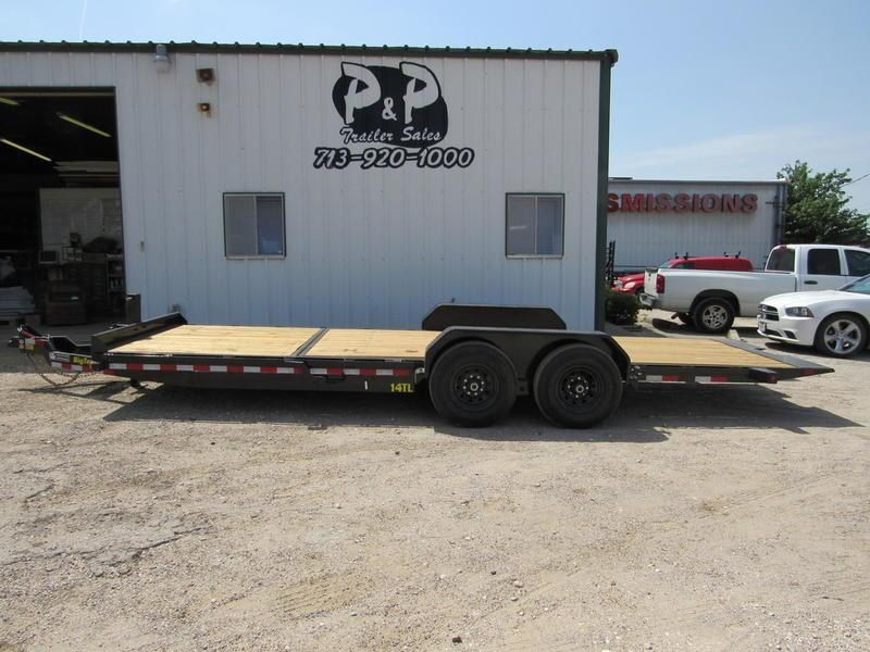 "2019 Big Tex Trailers 80"" X 22' Tilt 16'+6' Sta"