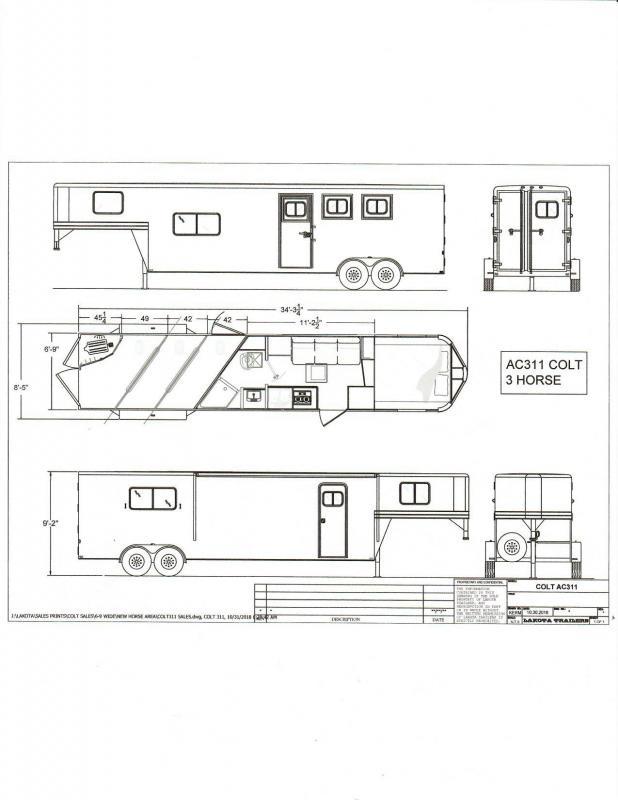 2020 Lakota C311 Charger 3 Horse 11 LQ Horse Trailer Slant