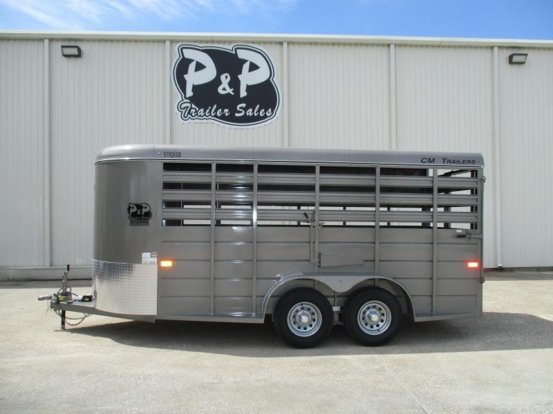 2019 CM Stocker 16 x 6 x 6 Livestock Trailer