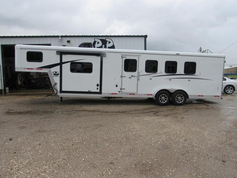 2019 Bison Trail Boss 4 Horse 9' Short Wall w/Slide-Out