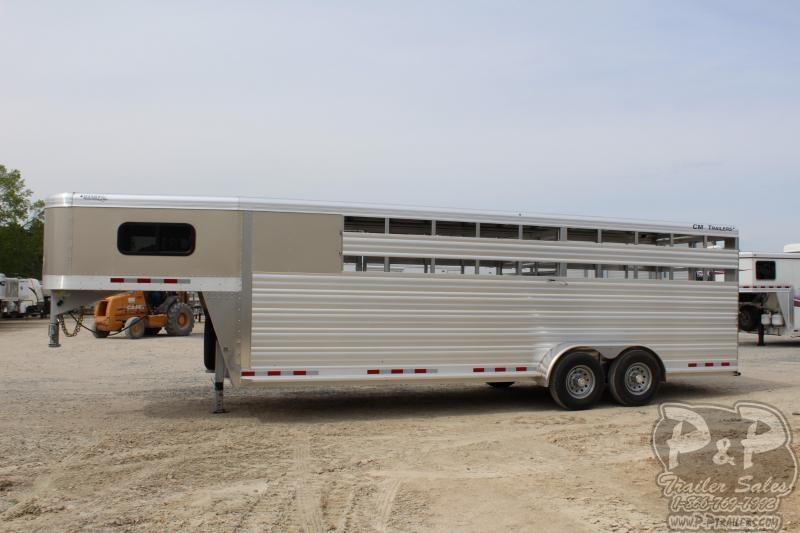 2019 CM Roundup AL 24 68 W x 7' T Livestock Trailer