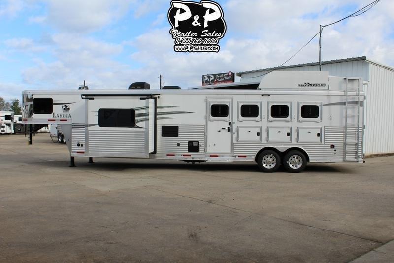 2019 Lakota Trailers Charger Edition C8415SR 4 Horse 15' Shortwall