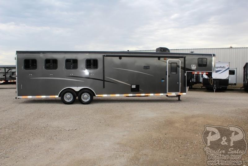 2019 Bison Trailers Trail Hand 7411TH 4 Horse Trailer 11 LQ Slant