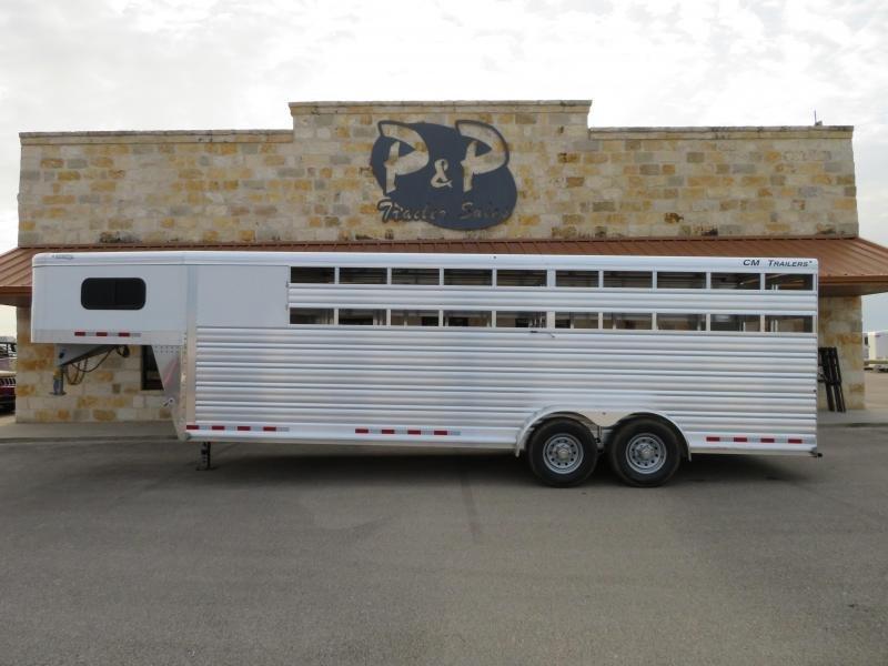 2019 CM Roundup AL 24ft 6ft 8in x 7ft Livestock Trailer