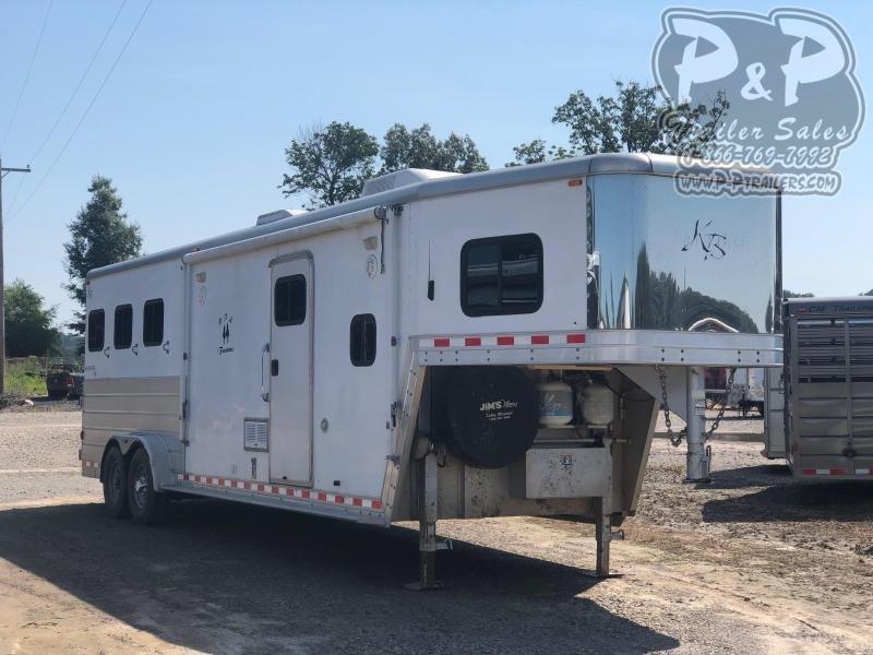 2006 Keifer Built 7608 Genesis 3 Horse Slant Load Trailer LQ With Slides