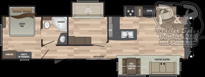 2019 Keystone RV Residence 401MBNK DESTINATION TRAILER 39.83' Destination Trailers LQ