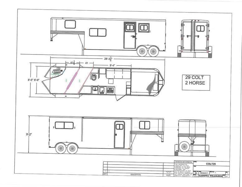 2019 Lakota Trailers Ac29 2 Horse 9 Short Wall P And P