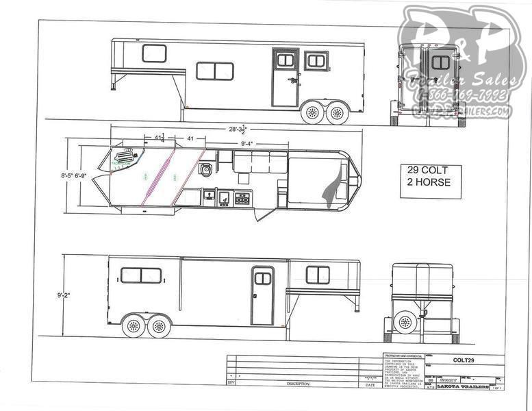 2020 Lakota Colt AC29 2 Horse Slant Load Trailer 9 LQ