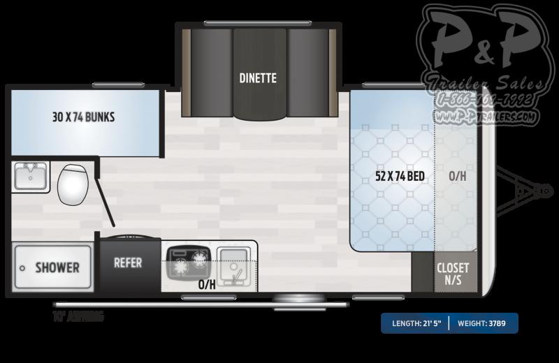 2020 Keystone RV Springdale MINI 1760BH Single Axle 21.42 ft Travel Trailer RV